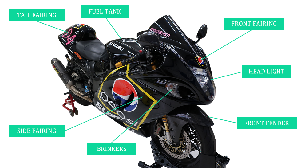 施工部位の紹介 バイク